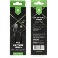Дата кабель USB 2.0 AM to Lightning 1.0m flat art TPE back Vinga (VCPDCLFTPE1BK)
