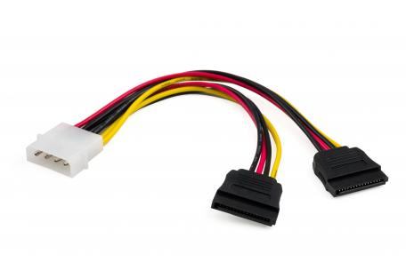 Кабель живлення SATA power 0.2m 2 connectors Vinga (VCPSATA2PW2)