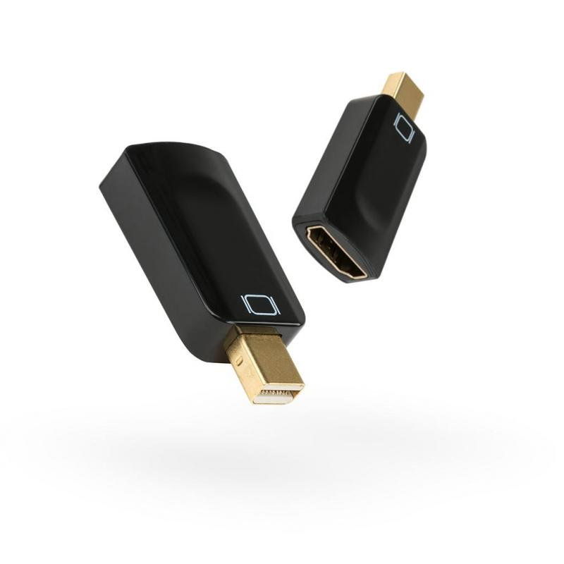 Перехідник Mini DP M to HDMI F Vinga (miniDPMHDMIAF-01)