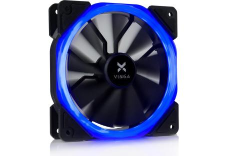 Кулер для корпуса Vinga LED fan-01 blue