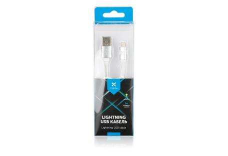Дата кабель USB 2.0 AM to Lightning 1m flat white Vinga (VRC101WHI)
