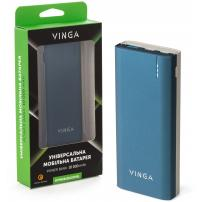 Батарея універсальна Vinga 10000 mAh QC3.0 PD soft touch blue (BTPB3810QCROBL)