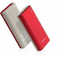 Батарея універсальна Vinga 10000 mAh QC3.0 PD soft touch red (BTPB3810QCROR)